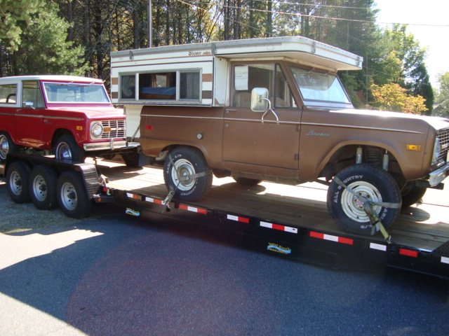 early ford bronco campers