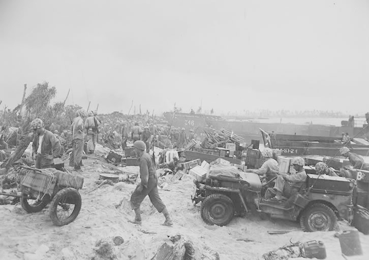 Pacific Beach Landing WW2 Willys Jeep From The Archives #53