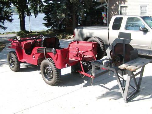 1946 Willys CJ-2A Jeep With Buzz Saw Attatchment & Capstan Winch For