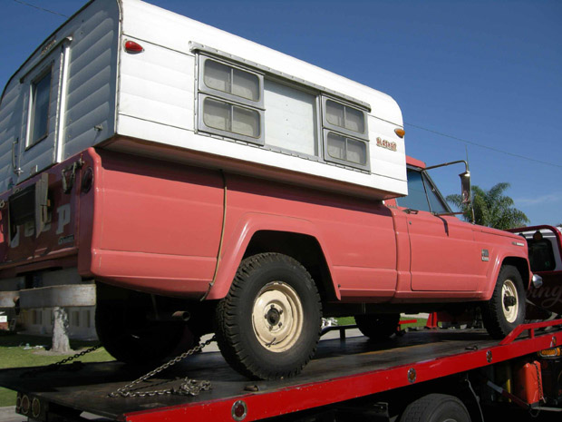 Imagine Surfing Through Craigslist And Coming Across A 1966 Jeep J3000 Truck With An Alaskan Camper Of Course There Is No Photo