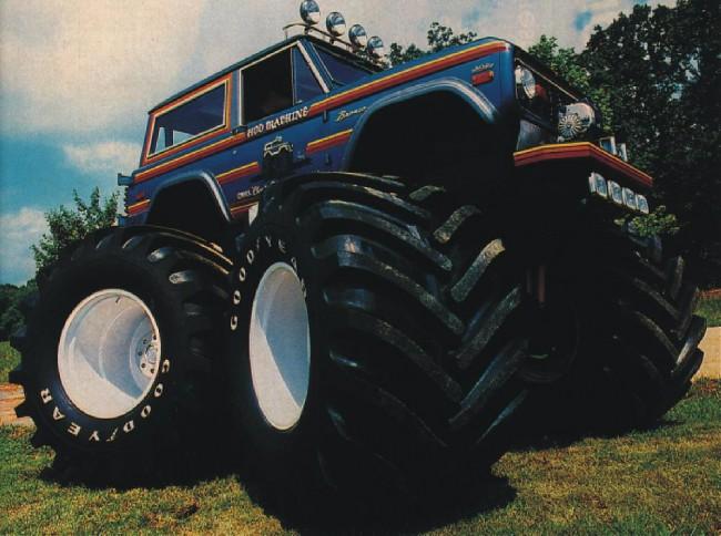 bronco monster, monster truck, early bronco