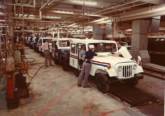 postal jeep assembly line What Do Chris Brogan, US Mail and A Jeep Assembly Line Have In Common?