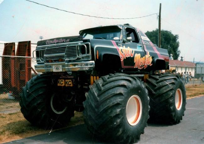 vintage monster truck, old school monster truck, monster truck