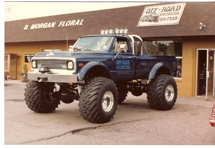 usa1 monster truck, vintage monster truck, chevy monster truck
