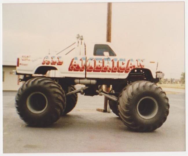 all american monster truck, vintage monster truck