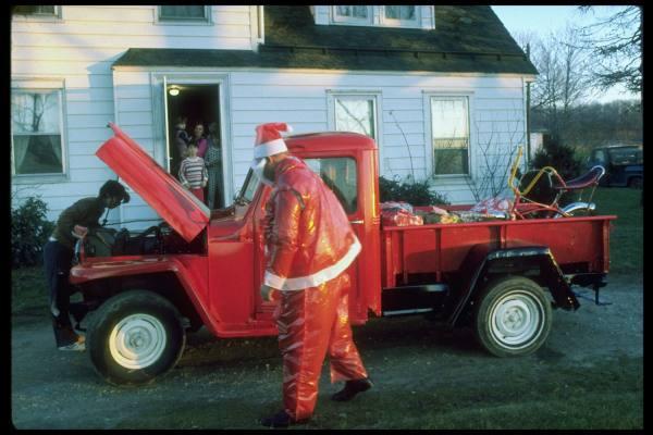 willys truck, santa jeep, willys jeep, jeep truck