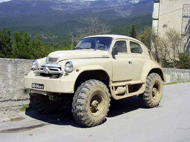 This is a GAZ-M-72 with larger tires