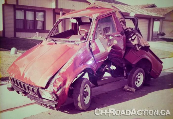 Smashed 1983 Toyota 4x4