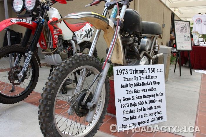 1973 Triumph 750cc raced in the 1973 Baja 500 & Baja 1000