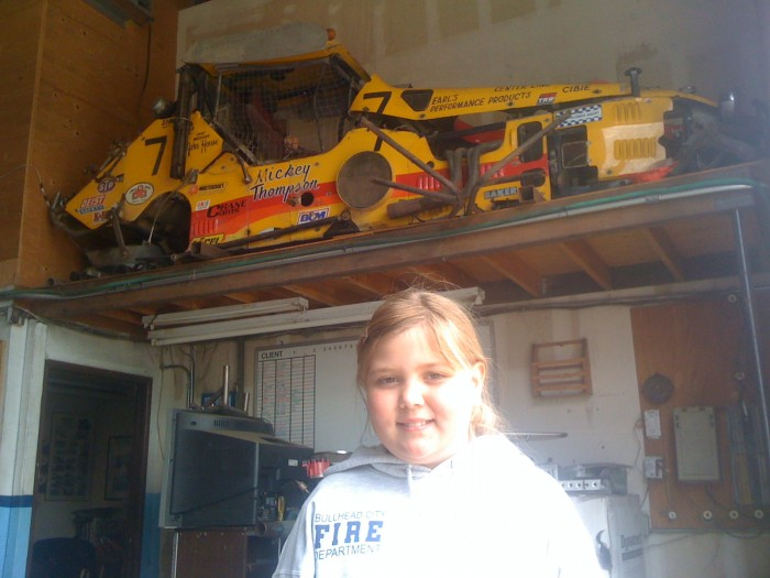 "Rory Ward collection.  My daughter Hanna w/Challenger IV in ""The Loft""!"