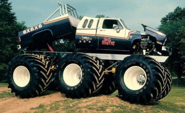 big brutus, 6x6 monster truck, 6x6x6 monster truck