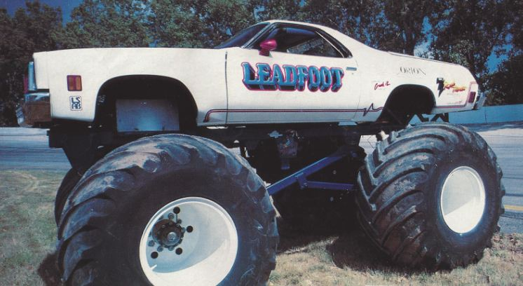 leadfoot monster truck, monster truck, el camino monster, el camino 4x4, el camino