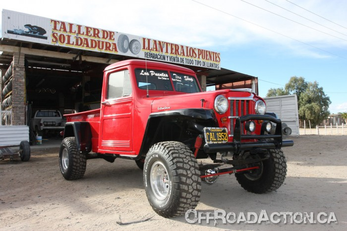 off road action 1952 willys truck