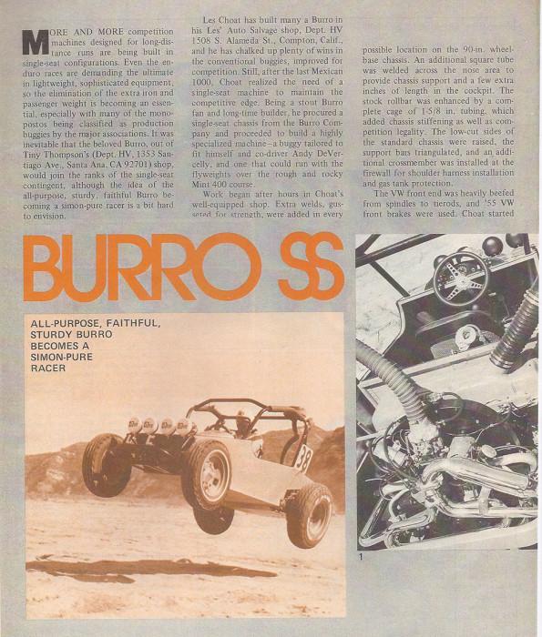 SS Burro Buggy