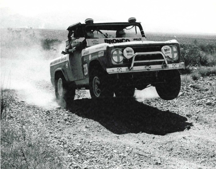 ORMHOF Bronco – Trackside images. Back in the 1969, Ford Broncos, custom prepped by Bill Stroppe were the hot ticket for desert racing.