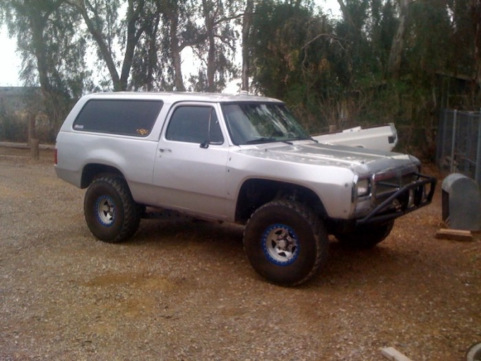 How the Dodge Ramcharger looked when Mark picked it up.