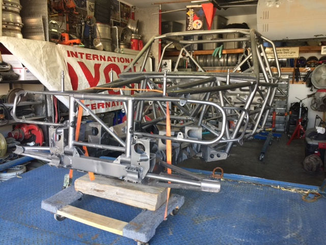 A shot of the bare chassis after Rory cleaned it up in his shop.